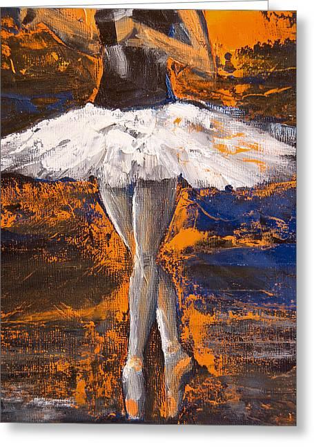 Ballerina En Pointe Greeting Card by Jani Freimann