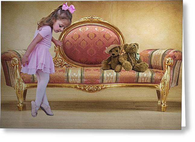 Ballerina Greeting Card by Sharon Lisa Clarke