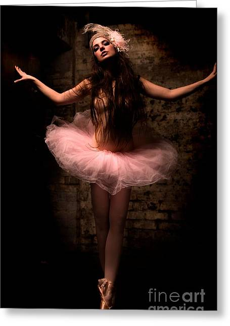Ballerina Greeting Card by Tbone Oliver