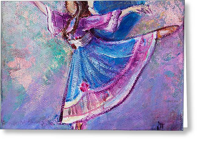 Greeting Card featuring the painting Ballerina by TM Gand