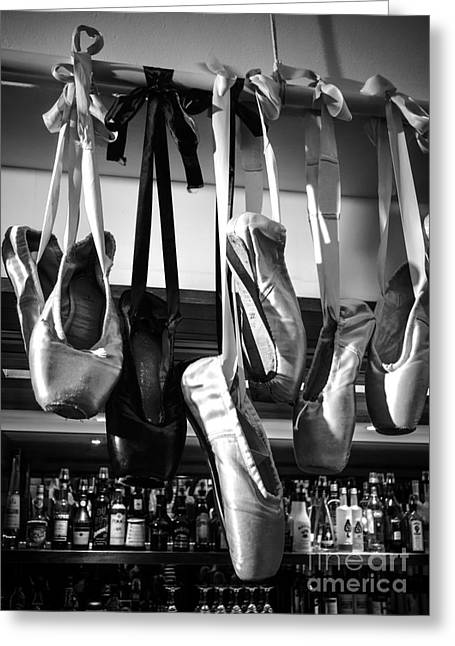 Greeting Card featuring the photograph Ballet At The Bar by Peta Thames
