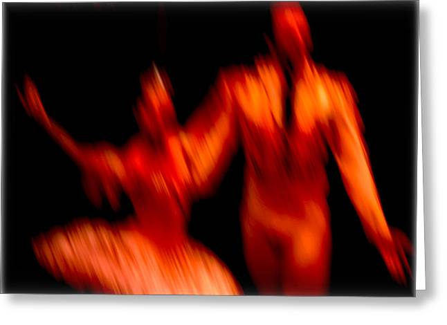 Ballet Blur 1 Greeting Card by Paulo Guimaraes