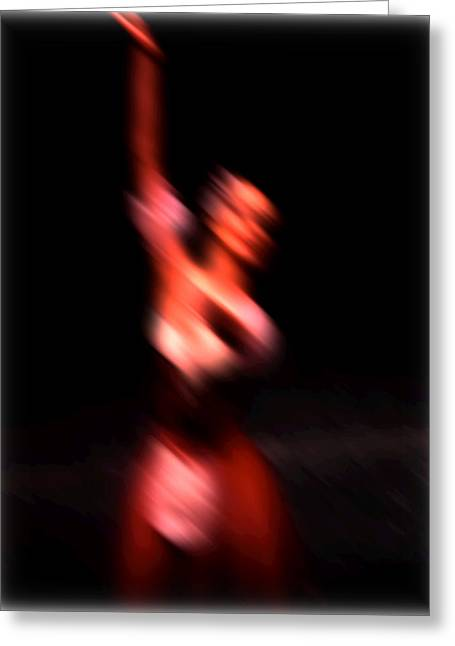 Ballet Blur 4 Greeting Card