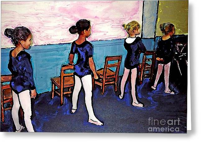 Ballet Class Greeting Card by Sarah Loft