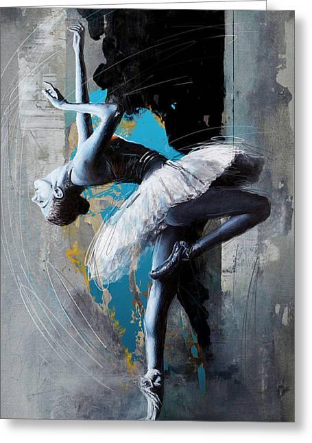 Ballet Dancer 15 Greeting Card by Mahnoor Shah