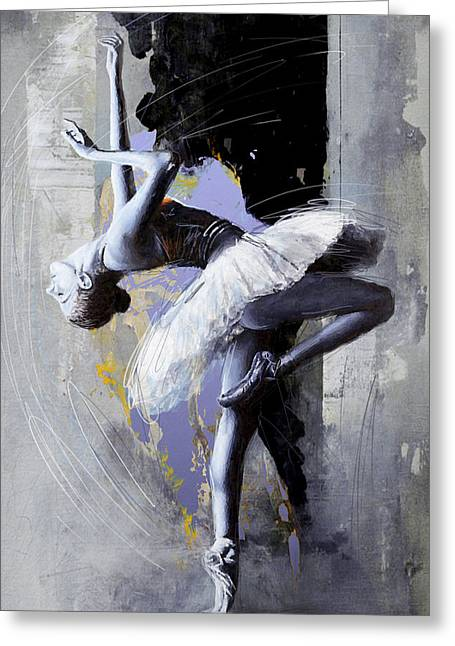 Ballet Dancer 16 Greeting Card by Mahnoor Shah