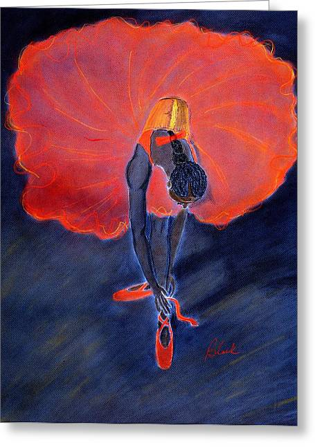 Ballet Dancer Greeting Card by Charlie Black