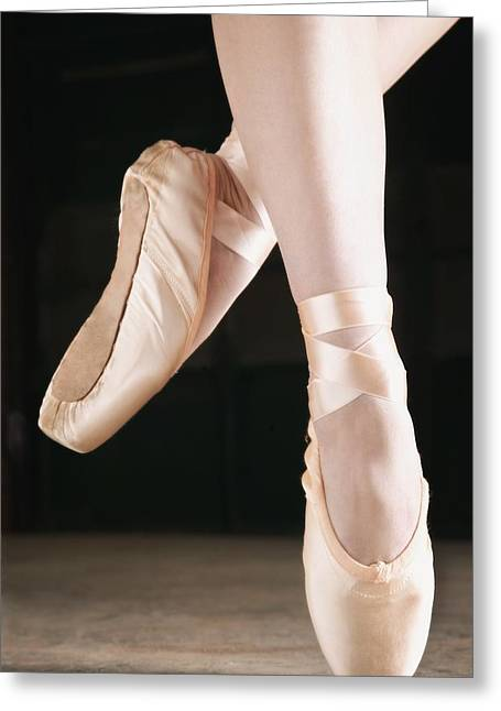 Ballet Dancer En Pointe Greeting Card by Don Hammond