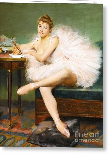 Ballet Dancer Greeting Card by Pg Reproductions