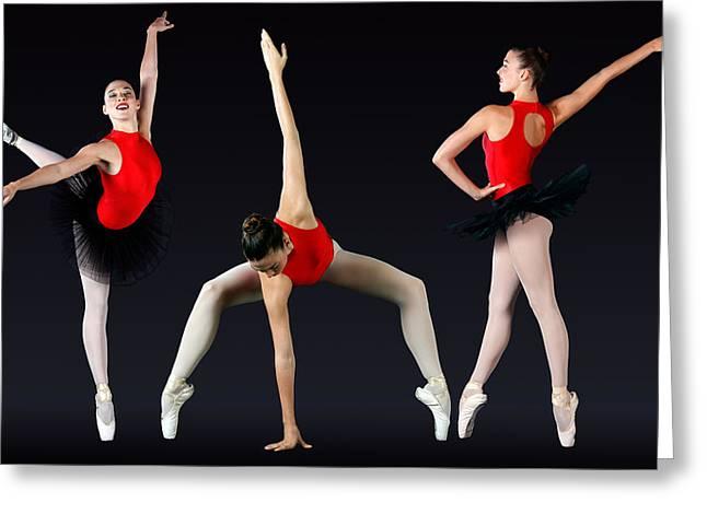 Ballet Dancer Greeting Card by Stephen Norris