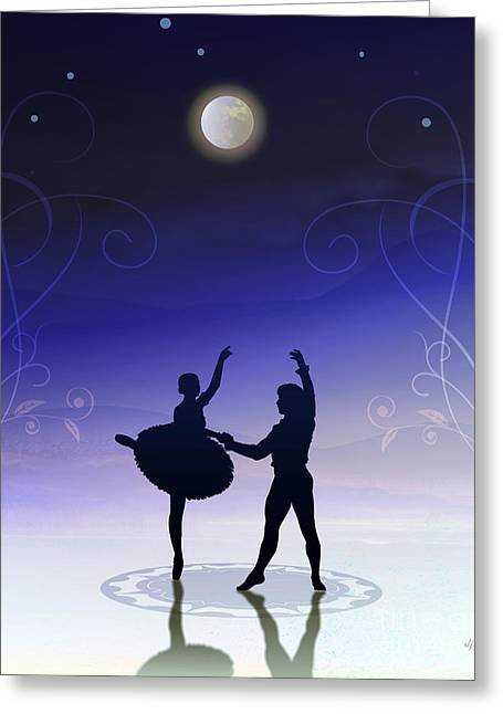 Ballet In Moonlight Greeting Card