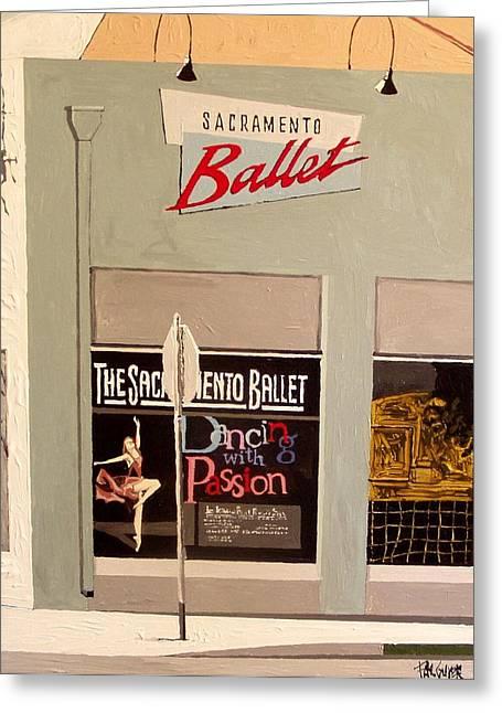 Ballet On K Greeting Card by Paul Guyer