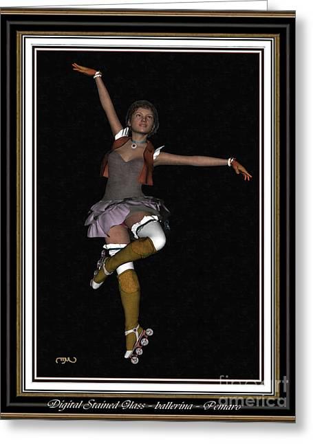 Ballet On Skates 1bos2 Greeting Card by Pemaro
