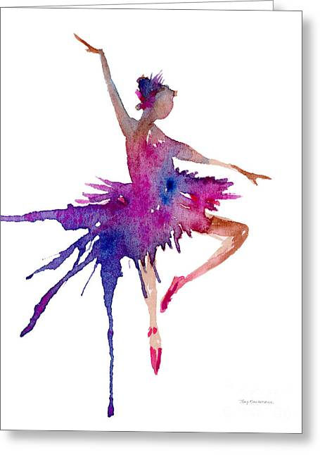 Ballet Retire Devant Greeting Card