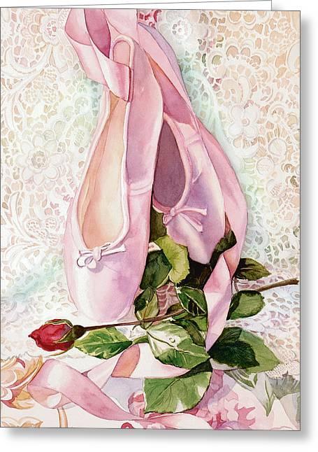 Ballet Rose Greeting Card by Judy Koenig