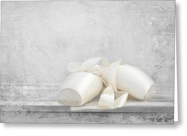 Ballet Shoes Greeting Card by Heike Hultsch