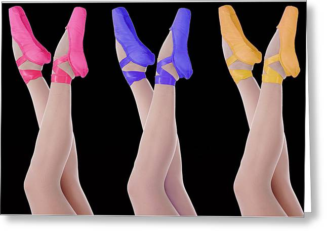 Ballet Shoes Greeting Card by Stephen Norris