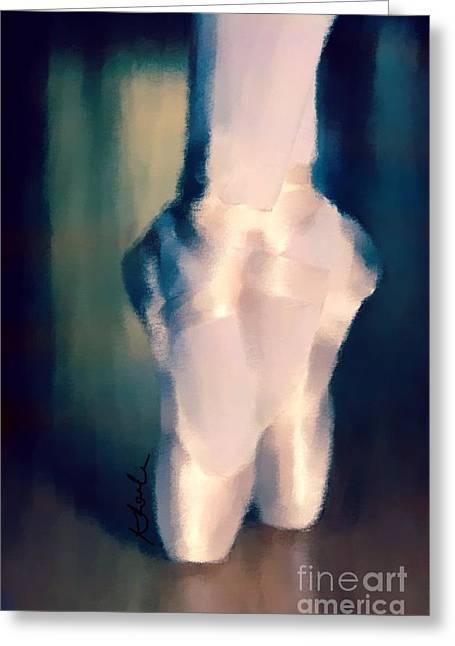 Ballet Slippers 1 Greeting Card by Karen Larter