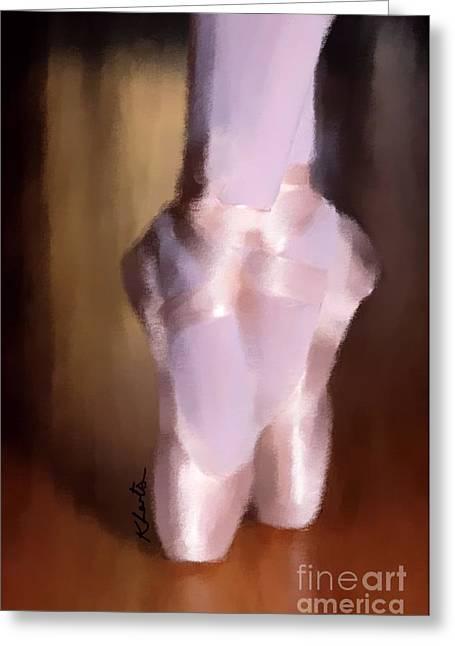 Ballet Slippers 2 Greeting Card by Karen Larter