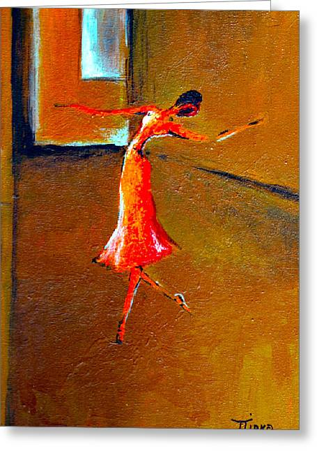 Ballet Solitaire Greeting Card by Mirko Gallery