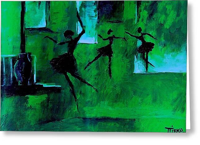Ballet Vert Greeting Card by Mirko Gallery