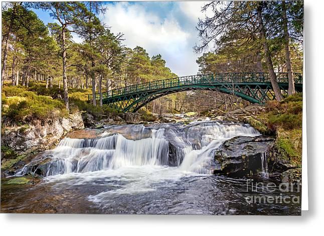 Ballochbuie Bridge Greeting Card by Mike Stephen