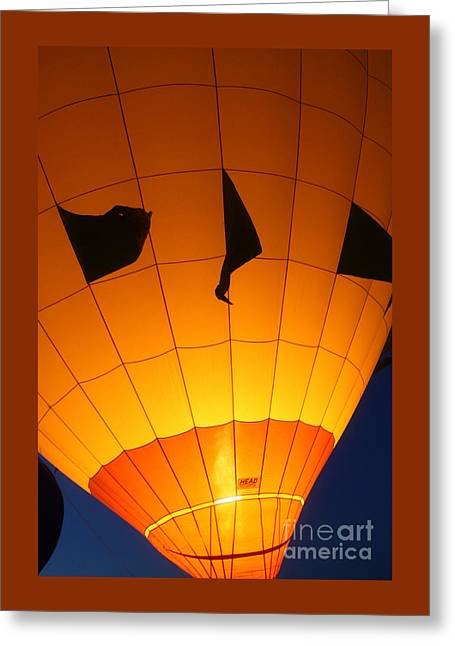 Ballon-glowyellow-7703 Greeting Card by Gary Gingrich Galleries