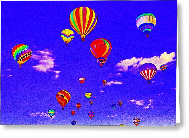 Ballon Race Greeting Card