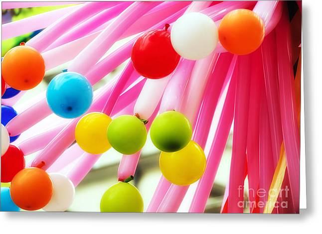 Ballons Greeting Card by Sinisa Botas