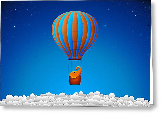 Balloon Elephant Greeting Card by Gianfranco Weiss