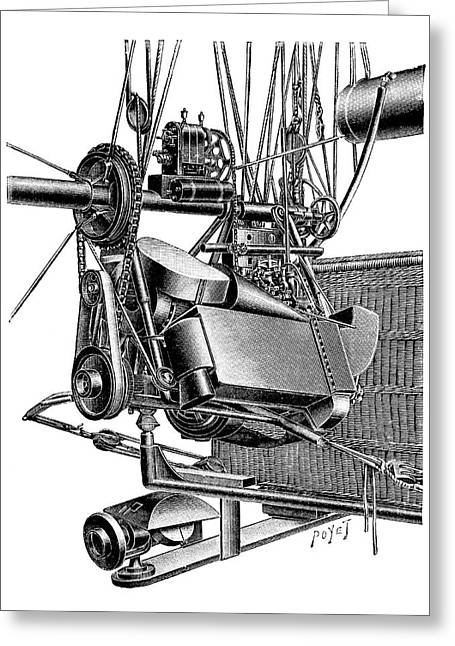Balloon Engine And Magneto Greeting Card by Science Photo Library