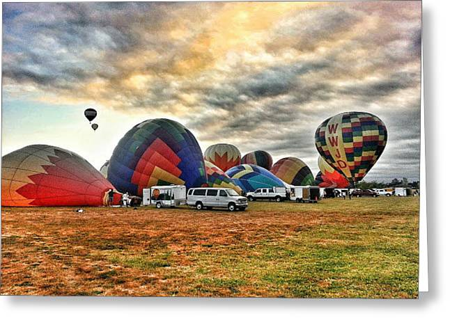 Balloon Fest Greeting Card by Quincy Casey