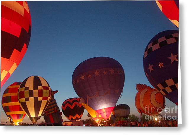 Balloon-glow-7808 Greeting Card by Gary Gingrich Galleries