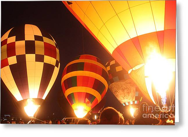 Balloon-glow-7950 Greeting Card by Gary Gingrich Galleries