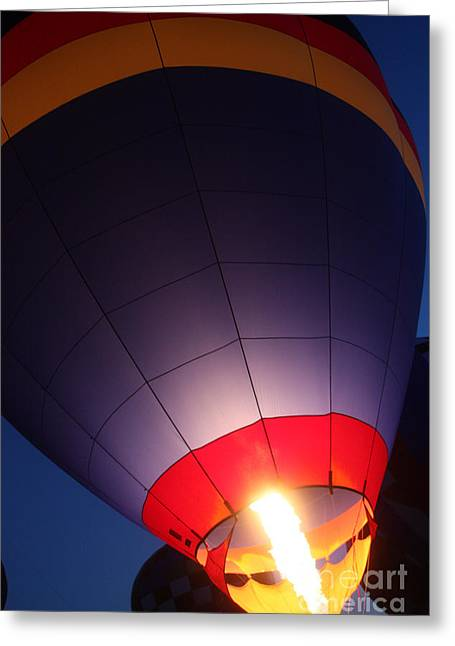 Balloon-glowpurple-7710 Greeting Card by Gary Gingrich Galleries