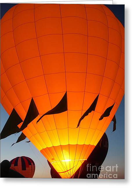 Balloon-glowyellow-7689 Greeting Card by Gary Gingrich Galleries