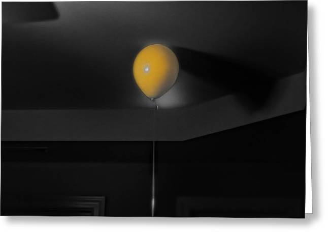 Balloon On Ceiling Greeting Card