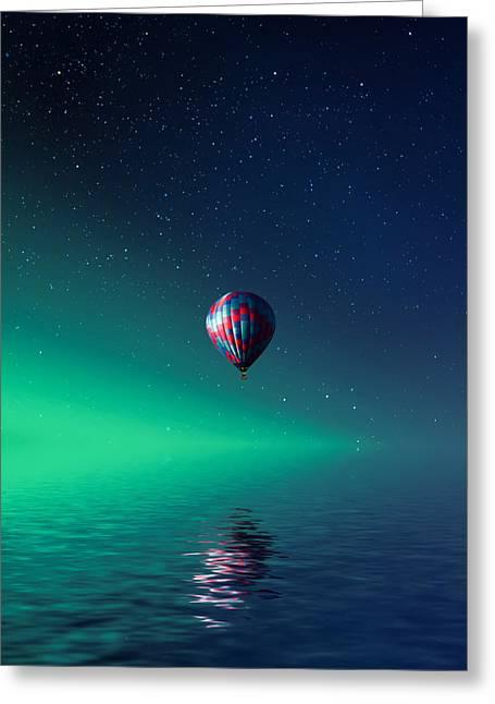 Balloon On Lake Batllava Greeting Card