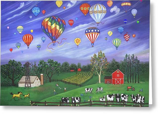 Balloon Race One Greeting Card