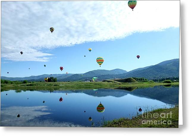 Balloon Reflections Greeting Card by Stephen Schaps