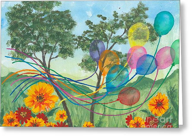 Balloon Release Greeting Card