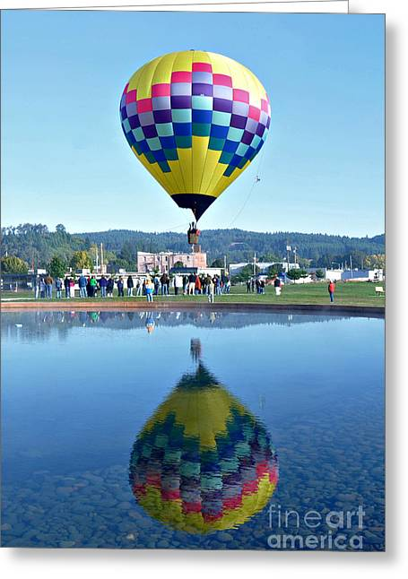Greeting Card featuring the photograph Balloon Ride  by Mindy Bench