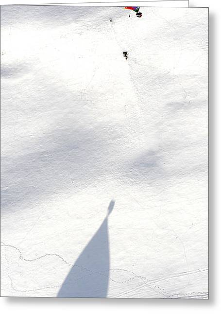 Balloon Snow Shadow Greeting Card by Stephen Richards