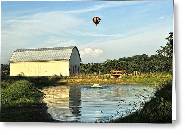 Balloons And Barns Greeting Card