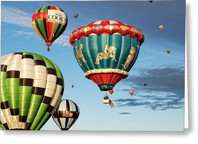 Greeting Card featuring the photograph Balloons Away by Dave Files