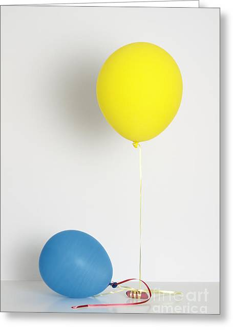 Balloons Filled With Helium And Air Greeting Card