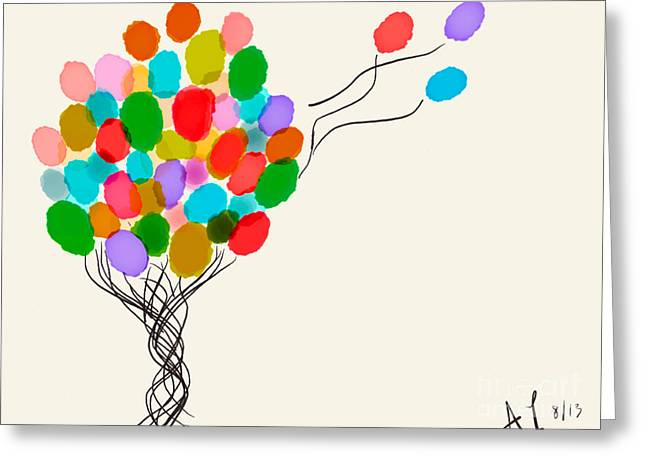Balloons For Sale Greeting Card by Anita Lewis