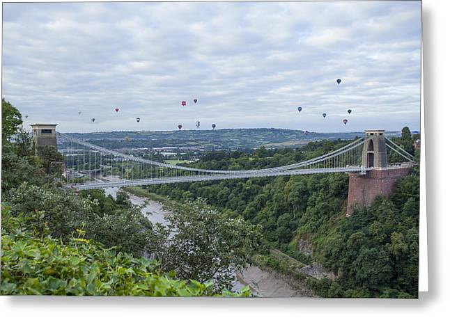 Greeting Card featuring the photograph Balloons Over Clifton by Stewart Scott