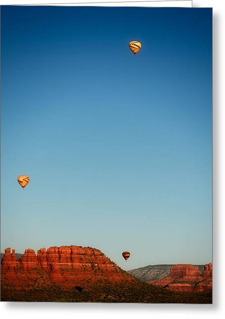 Balloons Over The Red Rocks Of Sedona Greeting Card