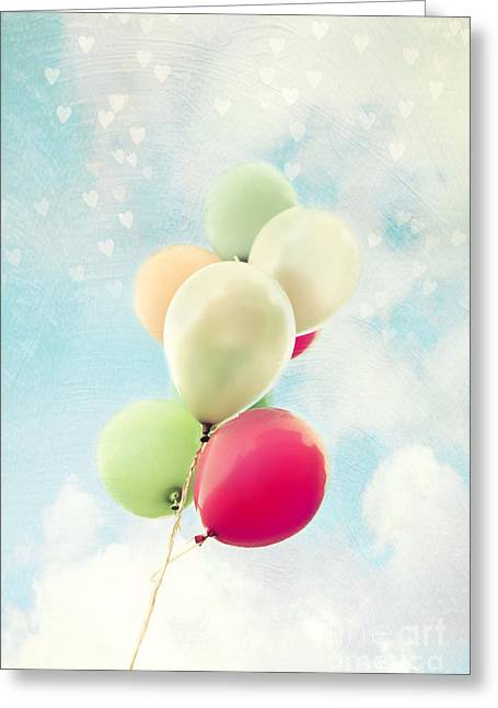 Balloons Greeting Card by Sylvia Cook